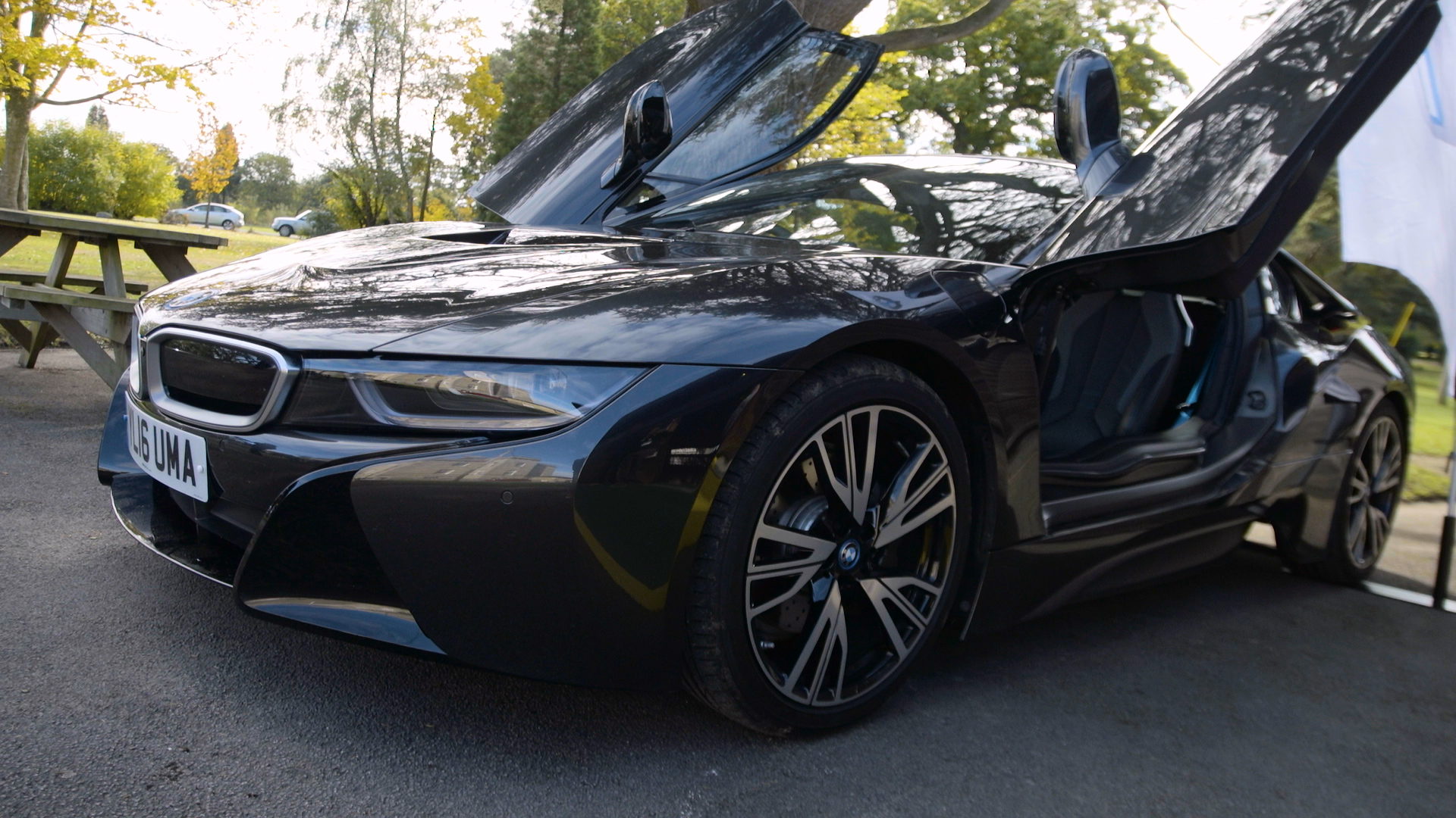 Ocean BMW's i8 hybrid electric car at Devon Green Expo 2016